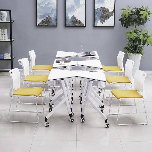 智慧教室梯形桌椅单人位展示