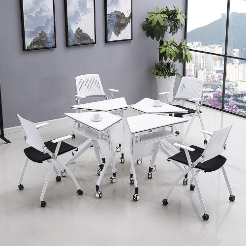 智慧教室梯形桌椅拼接组合