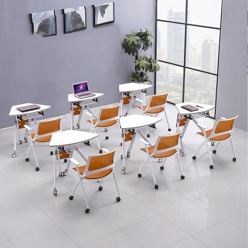 高校智慧教室课桌椅单人位组合