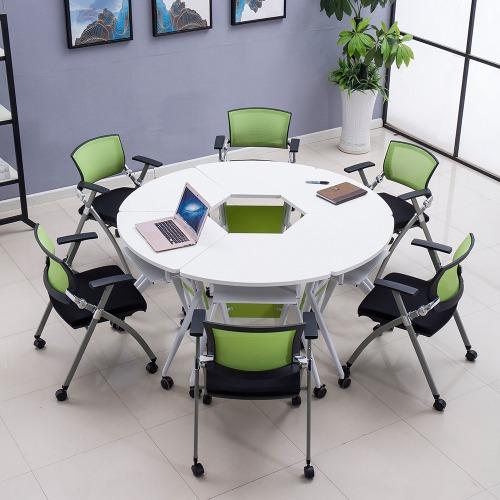 学校智慧教室课桌椅拼圆组合