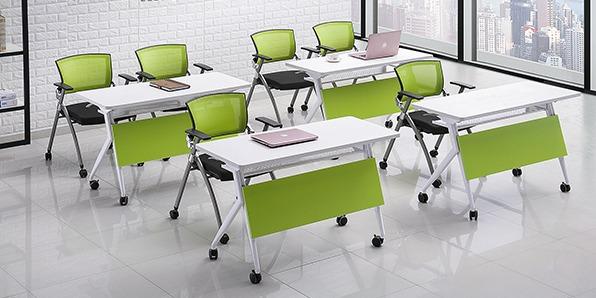 学校智慧教室课桌椅条形组合