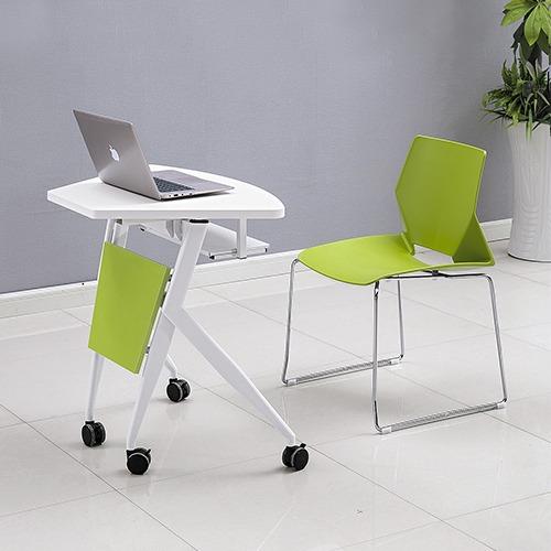 课桌椅厂家单人位扇形桌不同角度1