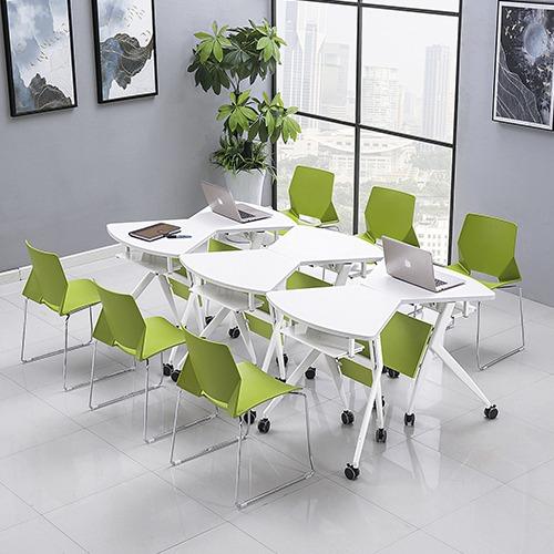 课桌椅厂家单人位扇形桌不同角度3