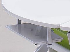 课桌椅厂家单人位扇形桌细节展示2