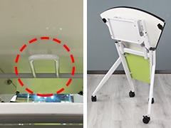 课桌椅厂家单人位扇形桌细节展示3