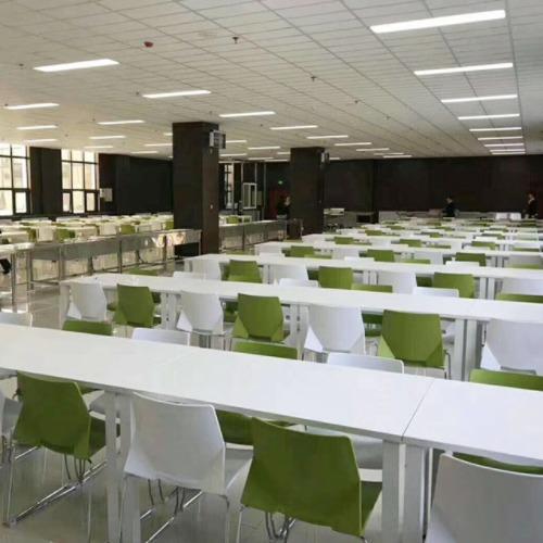学校食堂餐厅餐桌椅案例图1