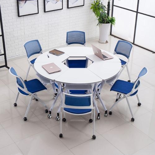 智慧课堂桌椅拼圆组合