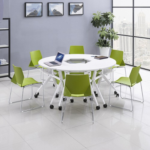 课桌椅厂家单人位扇形桌不同角度2