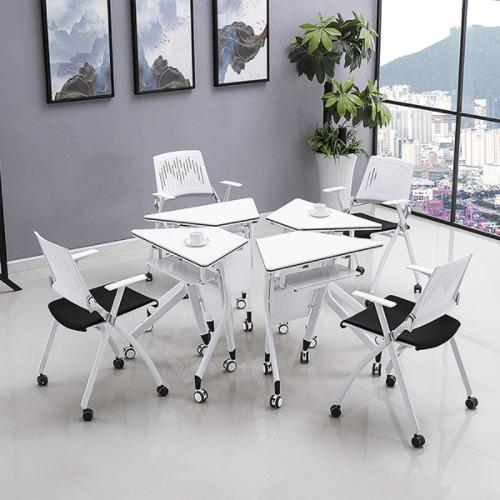 学生梯形桌不同角度2
