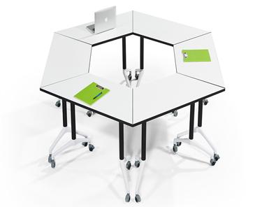 学校录播室课桌椅造型组合2