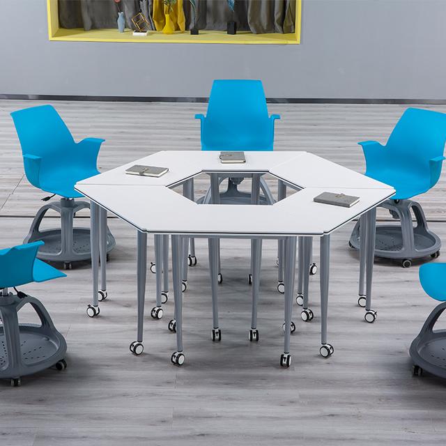 智慧教室拼接桌椅拼接组合图