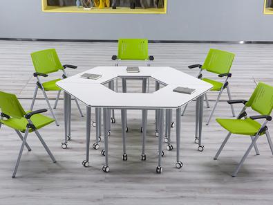 智慧教室拼接桌椅场景展示3