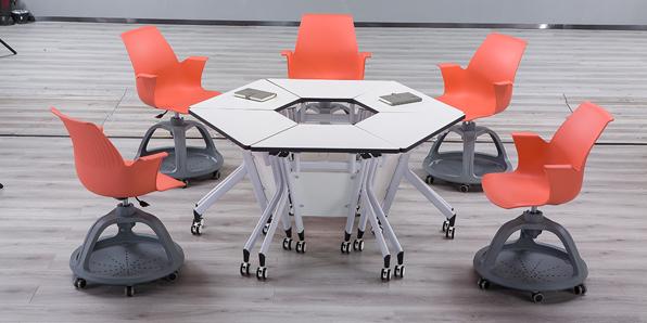 未来教室多功能课桌椅实拍图1