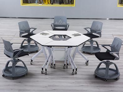 未来教室多功能课桌椅实拍图5
