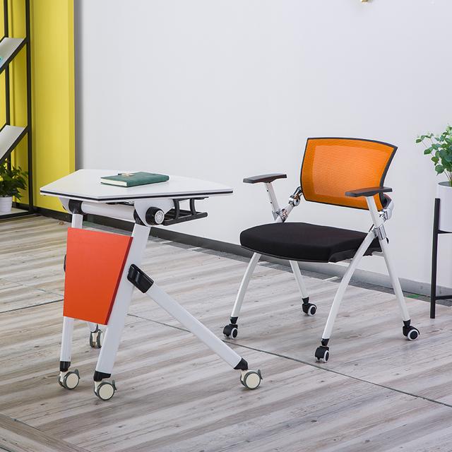 单人课桌椅不同角度展示2