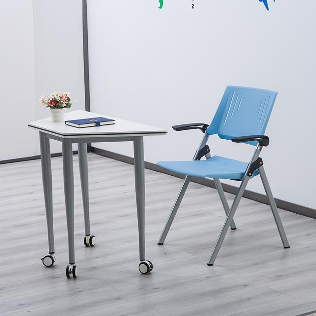 校用课桌椅,六边梯形桌不同角度1