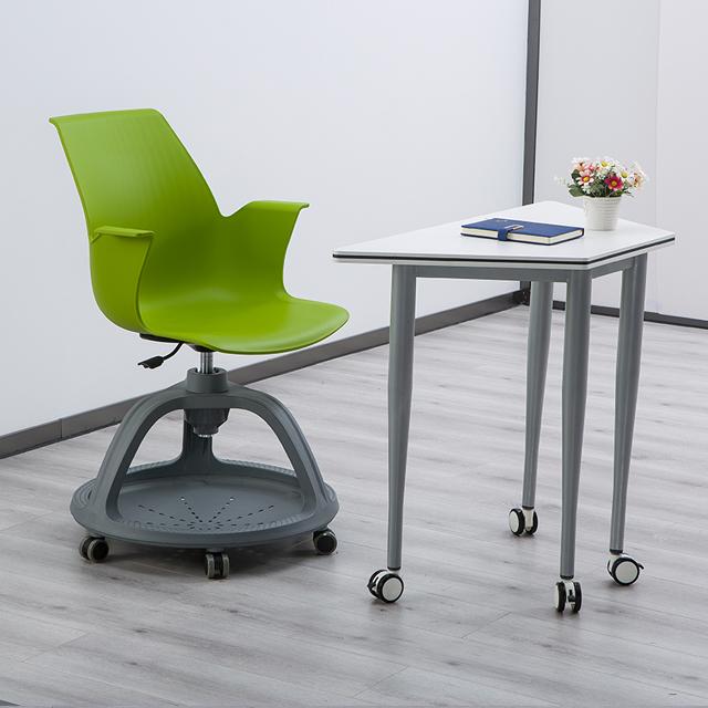 校用课桌椅,六边梯形桌不同角度3