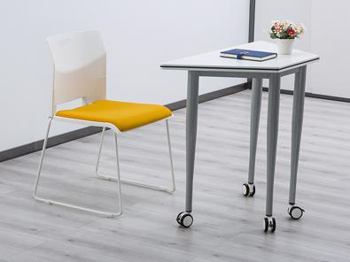 校用课桌椅,六边梯形桌实拍图3