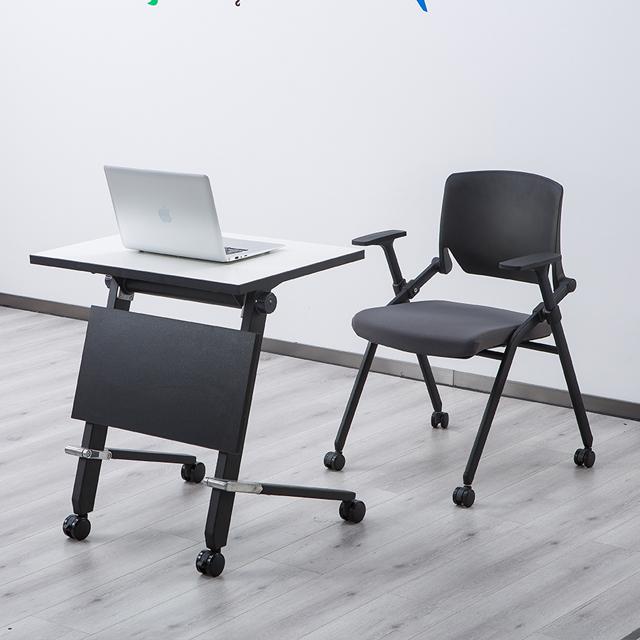 培训课桌椅不同角度展示1