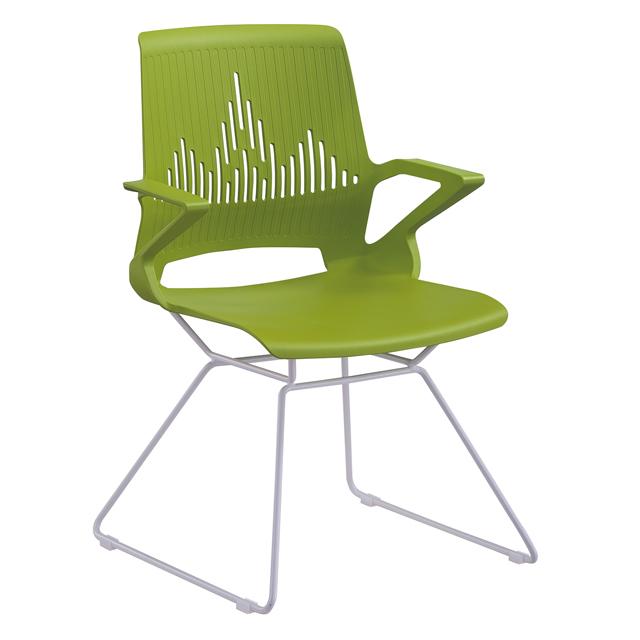 图书馆阅览桌椅-F1弓形