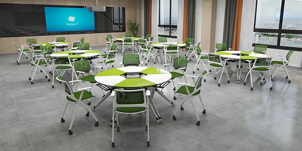 智慧教室课桌椅实拍场景1