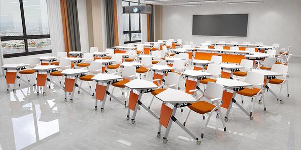 智慧教室课桌椅实拍场景2