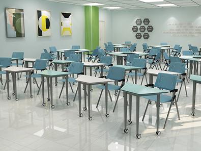 智慧教室拼接桌椅场景展示4
