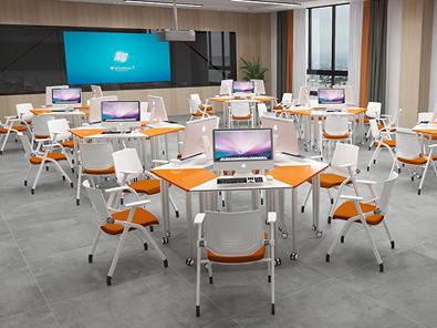 智慧教室拼接桌椅场景展示5