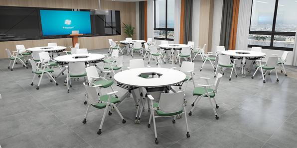 创客教室课桌椅厂家产品实拍图