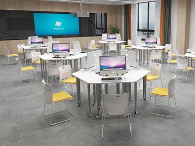 多功能大学教室课桌椅场景展示5