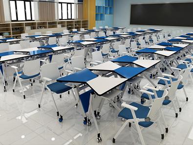 学生梯形桌实拍图4