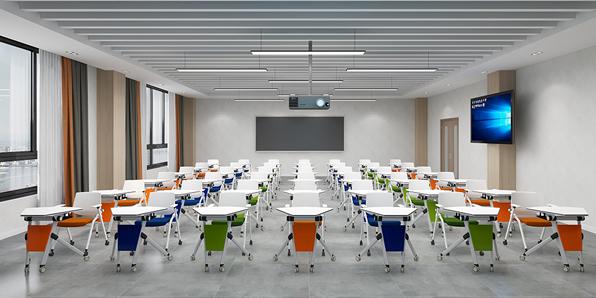 单人课桌椅实拍图1