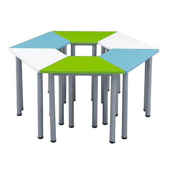 六边形梯形桌椅-d26