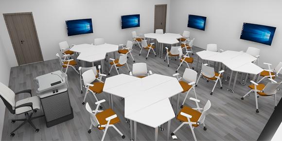 智慧教室拼接桌椅