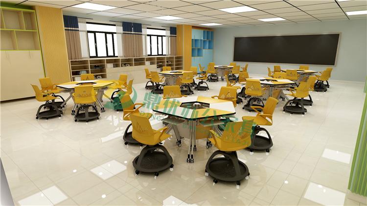 学校智慧教室课桌椅