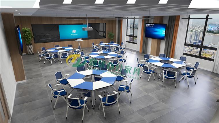 研讨型智慧教室桌椅