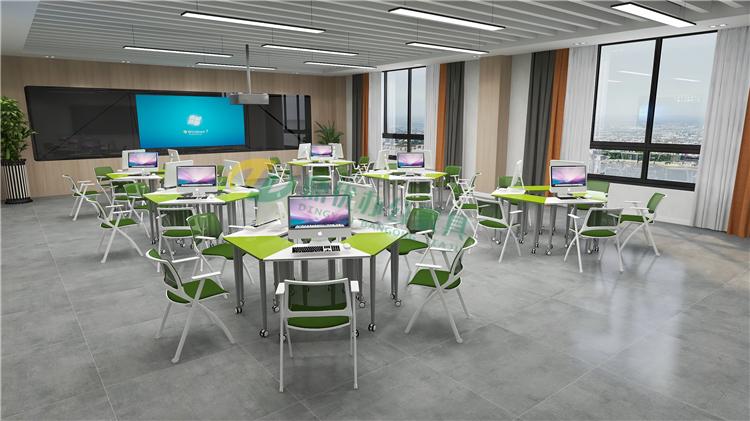 学生梯形桌可以拼凑出不同的形状