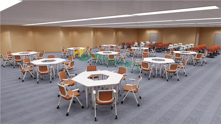 研讨教室学生桌椅