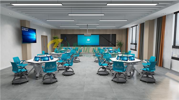 多媒体教室多功能桌椅
