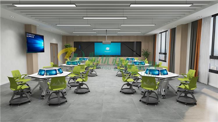 多屏互动型智慧教室桌椅