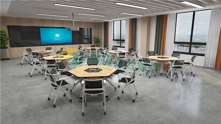 高校智慧教室课桌椅厂家