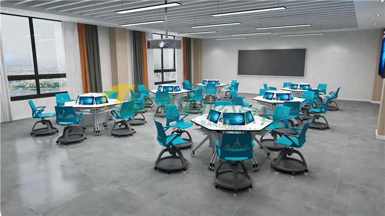 智慧教室学生异形桌椅