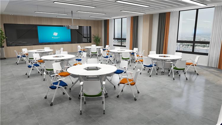 智慧教室桌椅效果图