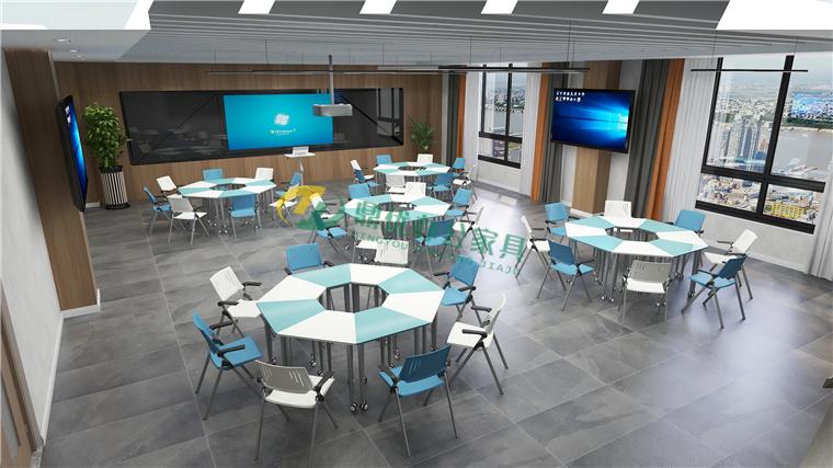 多功能网络教室桌椅